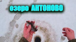 Рыбалка первого января озеро Антоново Рыбалка 2021