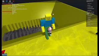 Pushing noobs off ROBLOX lmao