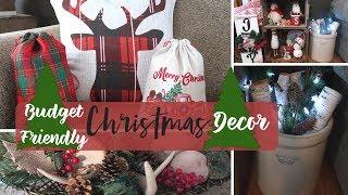 Farmhouse Christmas Decor on a Budget | DIY Dollar Tree Christmas Decor | Rustic Christmas Decor