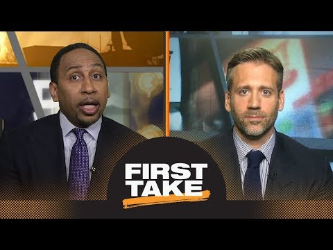 Stephen A. shuts down Max saying Kevin Durant 'needs' Steph Curry on court | First Take | ESPN
