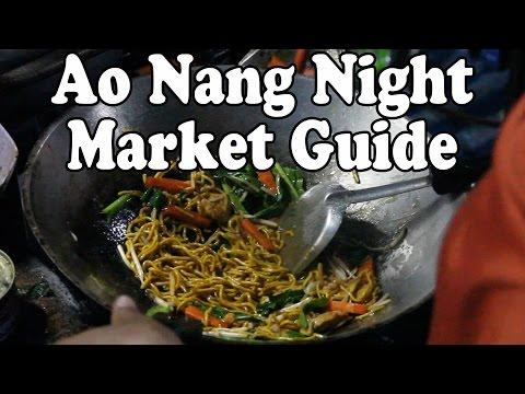 Ao Nang Krabi Night Market Tour: Pt 1. Thai Street Food & Shopping in Ao Nang Krabi Thailand
