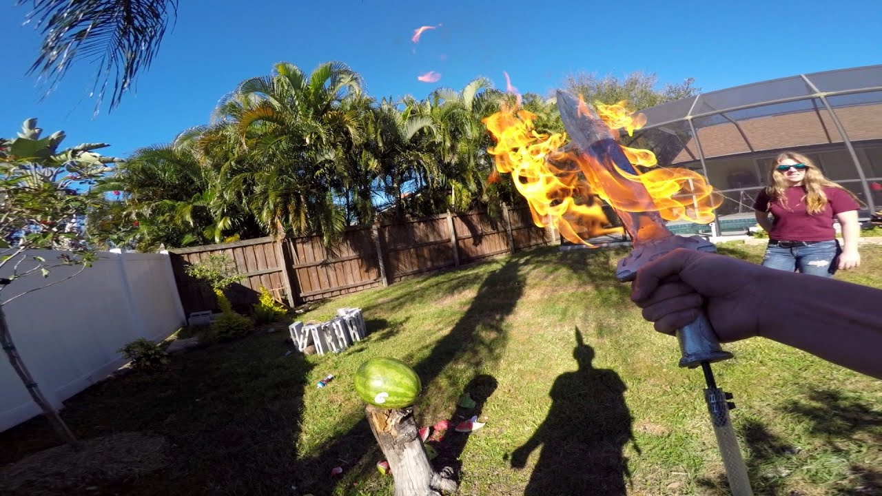 Backyard Scientist Series gopro: making a flame sword with the backyard scientist - youtube