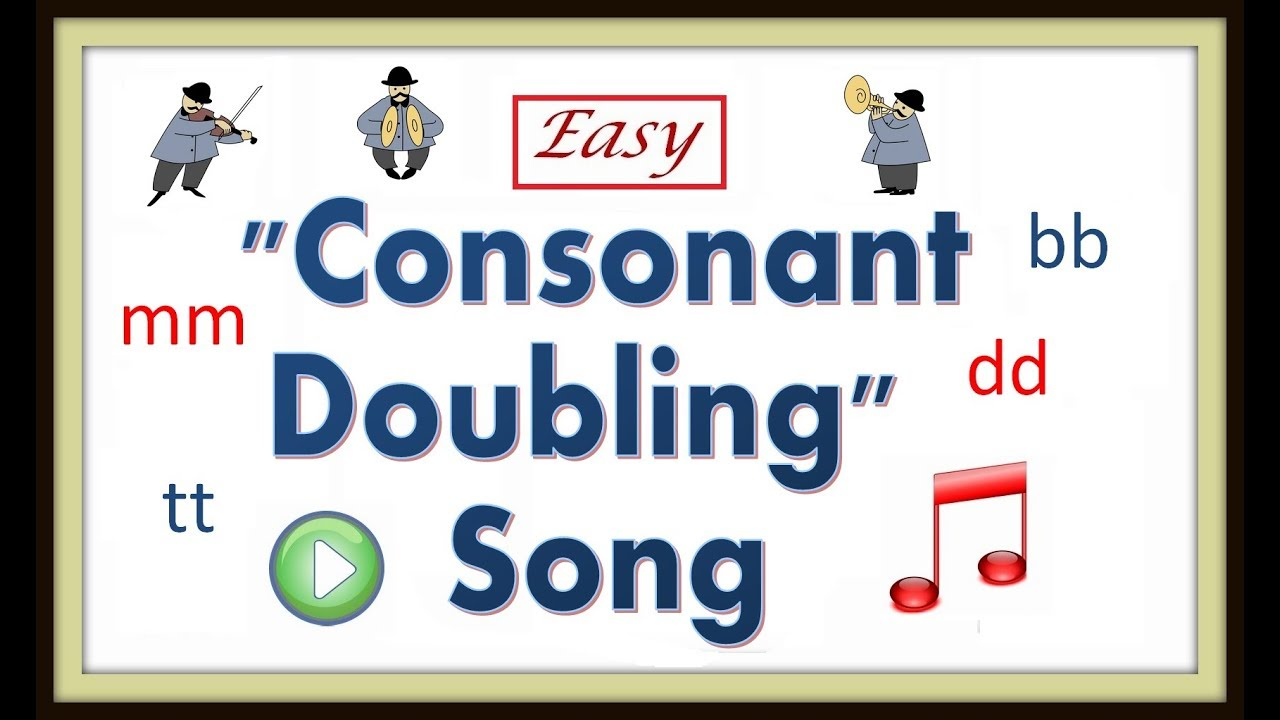 hight resolution of How To Teach Consonant Doubling -- Consonant Doubling Song - YouTube