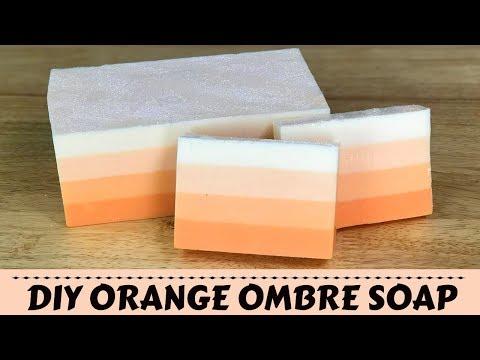 How To Make Ombre Orange Handmade Melt And Pour Soap Recipe DIY