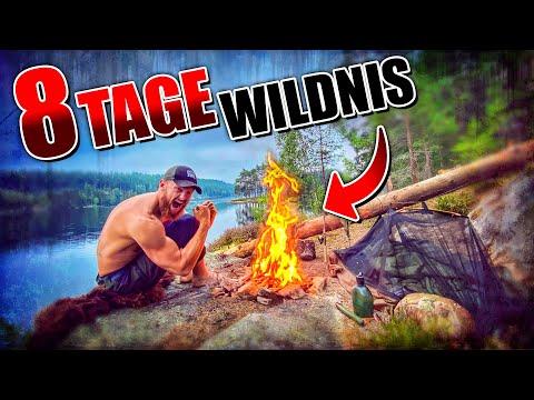 8 Tage Wildnis in SCHWEDEN #3 | Primitive Ausrüstung + Kajak | Bushcraft Survival | Fritz Meinecke