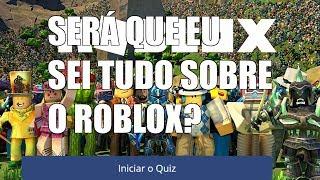 Quiz sobre o roblox!