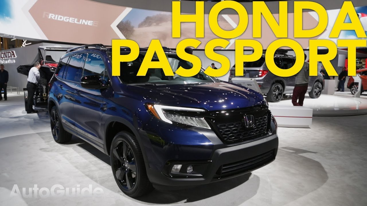 2020 Honda Passport First Look 2018 La Auto Show Youtube