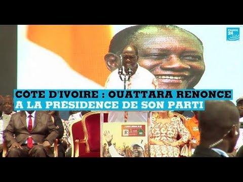 Côte d'Ivoire : Alassane Ouattara renonce à la présidence de son parti