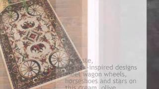 Wagon Wheel Rug - 5 X 8 - Lonestarwesterndecor.com