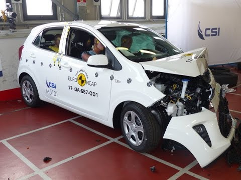 Kia Picanto 2017 Crash Test Euro Ncap Youtube