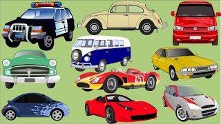 Aprender números com carros para crianças