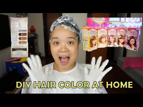 Liese Bubble Hair Color Demo and Review on Virgin Hair - msyellowyum