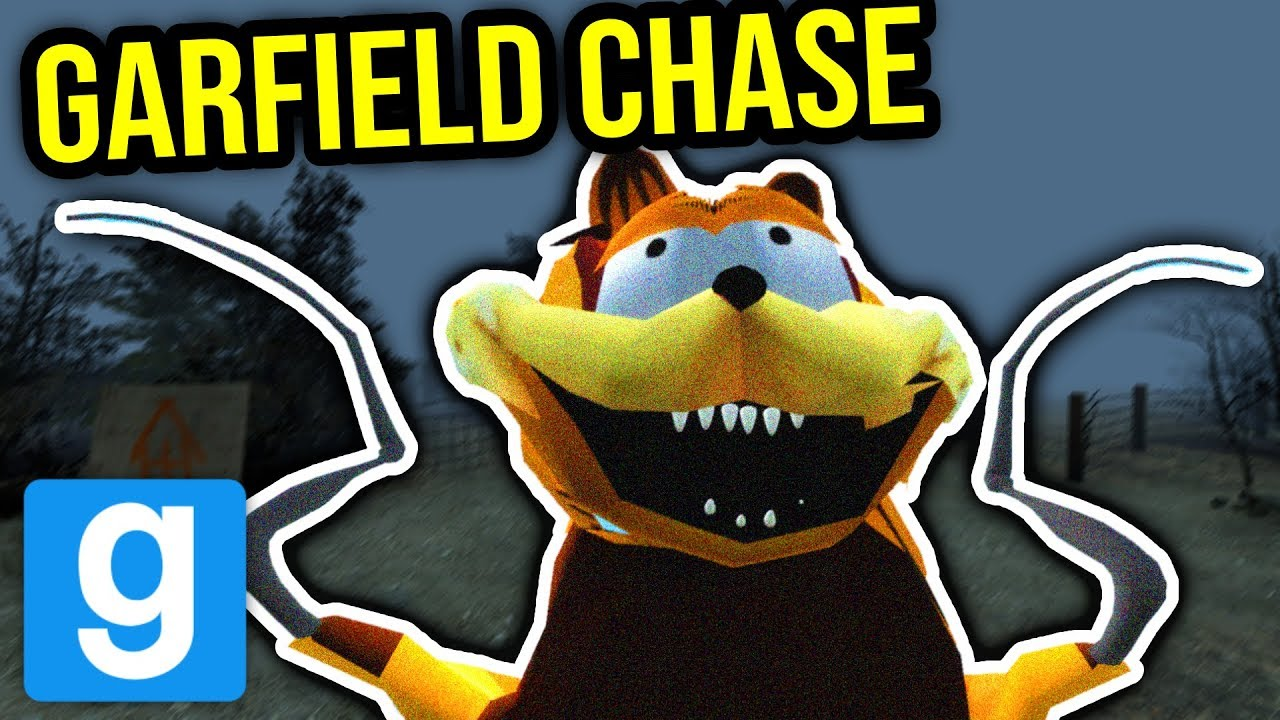 Scary Garfield In Corn Field Gmod Nextbot Youtube