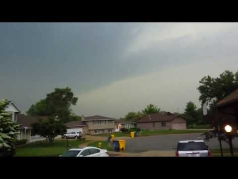 INTENSE Severe Thunderstorm! (AWESOME Thunder) 6-12-13 (Chicagoland)