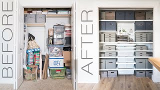 Office Closet Makeover