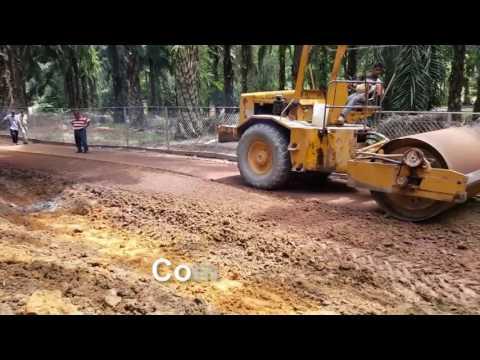 Plantation road in Perak Malaysia