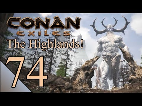 Conan Exiles 74:  Finding Iron In The Far North!  Let's Play Northern Highlands Gameplay