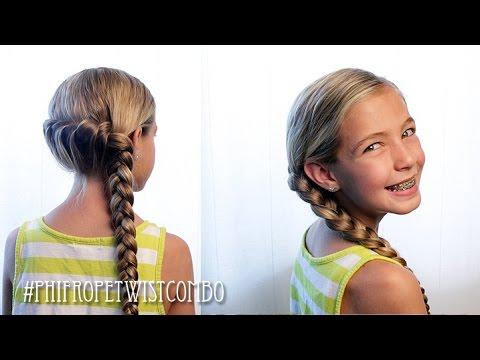 French Rope Twist Combo Braid Pretty Hair Is Fun Youtube
