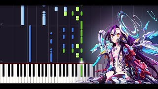 There is a reason [FULL] - No game no life Zero (The movie) - ED [Piano cover + SHEETS] // Synthesia