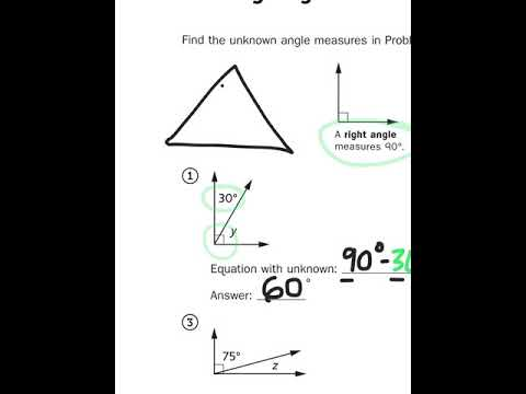 Everyday Math, 4th Grade 6.11 Finding Angle Measures