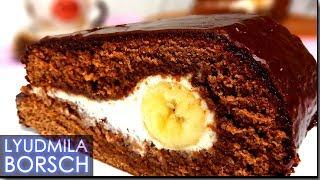 Торт «СЛЕЗА СЛОНА» нереально ВКУСНЫЙ шоколадно-банановый. ТОЧНЫЙ, пошаговый РЕЦЕПТ.
