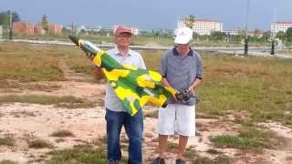 HUE RC, Mirage 5, EDF 70,  Maiden Flight