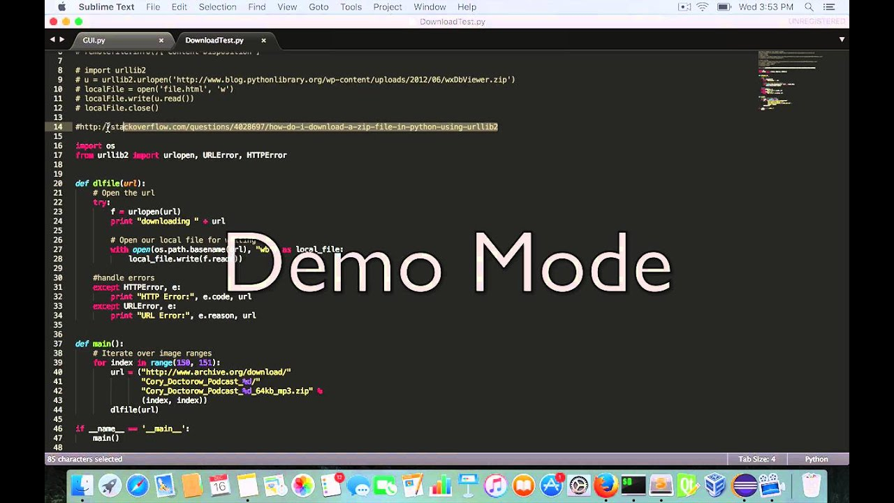 Demo of C++ call Python script to download ZIP file