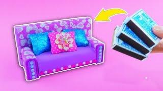 DIY miniature COUCH 🎀 LOL furniture 🎀 SOFA