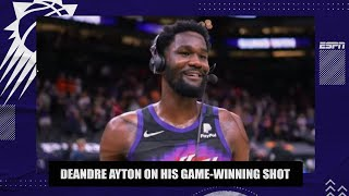 Deandre Ayton reacts to his game-winning shot in Game 2 of Suns vs. Clippers 🔥   NBA on ESPN