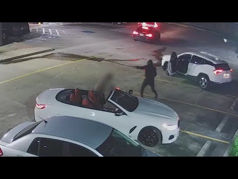Video shows robber shooting victim 7 times outside Galleria-area fast-food restaurant