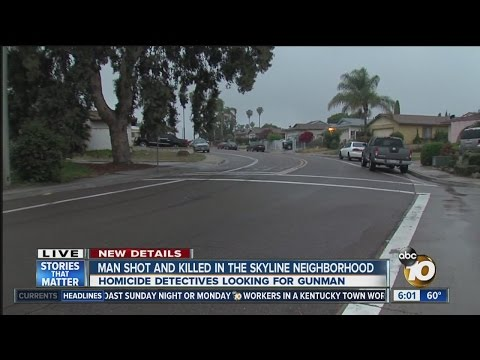 Man shot and killed in the Skyline neighborhood