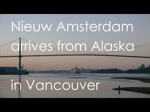 """Nieuw Amsterdam"" arrives from Alaska in Vancouver"