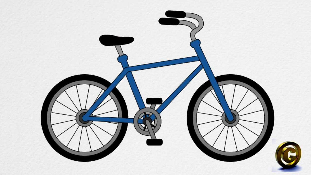 how to draw a bicycle step by step youtube