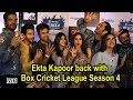 Ekta Kapoor back with Box Cricket League season 4.