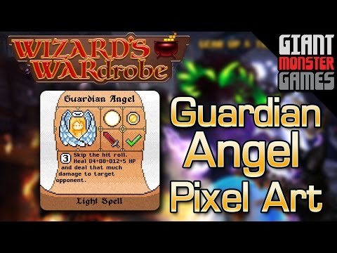 Guardian Angel Pixel Art - Final Boss Spell for Wizard's WARdrobe