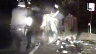 Cop shoots suspect escaping crashed car