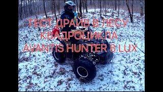 Тест драйв в лесу квадроцикла Avantis Hunter 8 lux