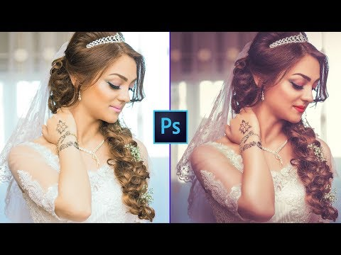 Photoshop CC Tutorial: Wedding Photo Edit : CAMERA RAW Filter (2019)