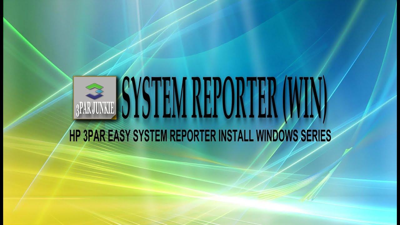 HP 3PAR Easy System Reporter Install (Windows)