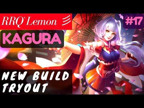 New Build Tryout [Rank 1 Kagura] | RRQ`Lemon 彡 Kagura Gameplay and Build #17 Mobile Legends