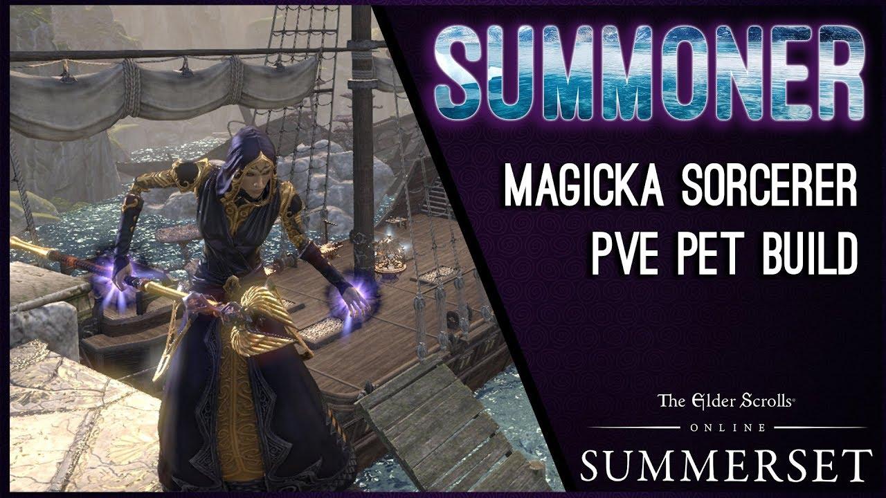 Magicka Pet Sorcerer Build PvE