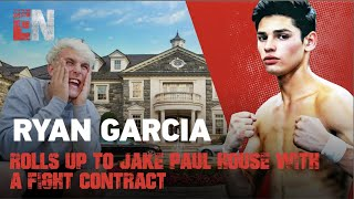MUST SEE! Ryan Garcia rolls up to Jake Paul's House with a Fight Contract | EsNews Boxing
