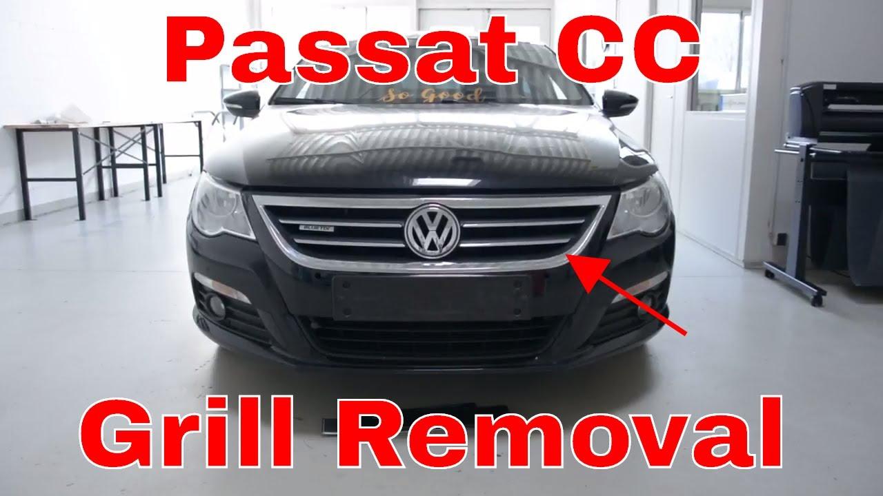 vw cc headlight removal