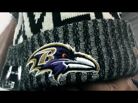 3b6dc311294cf Ravens  2017 STADIUM BEANIE  Black Knit Hat by New Era - YouTube