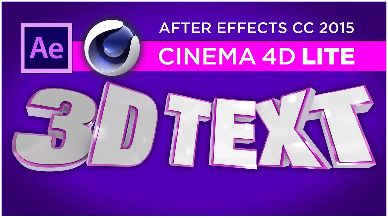 Cinema 4D Lite Tutorial - Create 3D text titles in After Effects with C4D  Lite - Sean Frangella