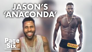 """Will jason derulo's """"anaconda"""" make a cameo on tiktok? last december, the singer's sexy underwear post broke instagram, and his bulge is going viral again. """"..."""