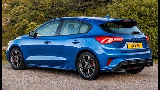 2019 Ford Focus ST-Line Driving, Exterior and Interior
