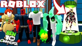 ROBLOX! BEN 10 NEW ALIEN DNA SCANNING WITH OMNITRIX! -BEN 10 ARRIVAL OF ALIENS