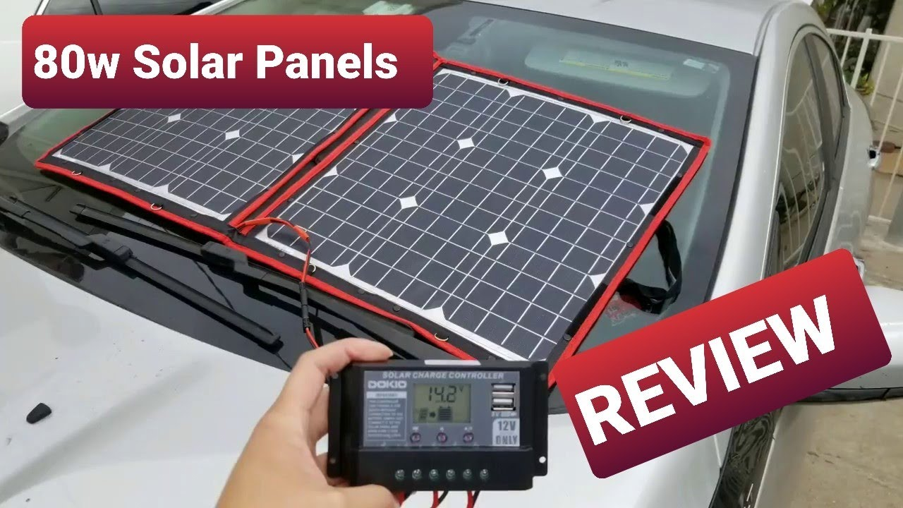 80 Watt Folding Solar Panel Dokio 100 Quick Review