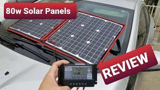 80 Watt Folding Solar Panel - Dokio - $100!! Quick Review